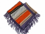 Kinder Poncho - lila, hellgrau, orange, grau